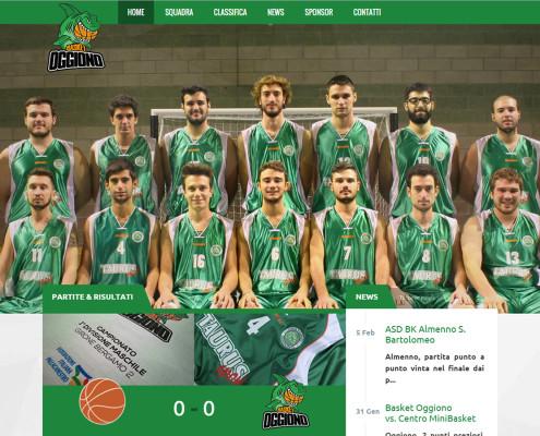 Basket Oggiono - Realizzazione siti internet sportivi Lecco Como Sondrio